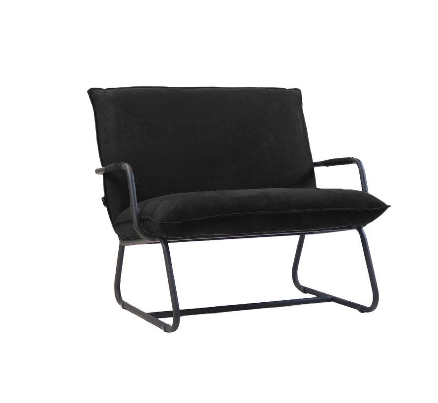 Sessel Ohio mit Armlehne Polyester schwarz