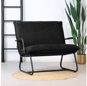 Bronx71 Sessel Ohio mit Armlehne Polyester schwarz
