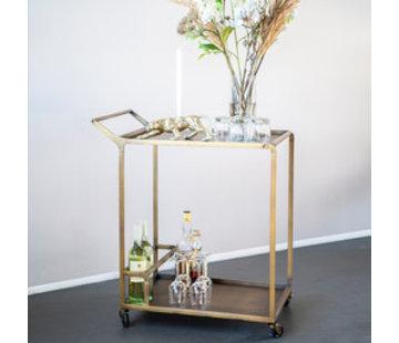 Servierwagen Meri Metall gold