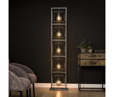 Stehlampe Santiago 5-flammig altsilber