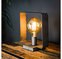 Tischlampe Remco 1-flammig Altsilber