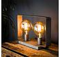Tischlampe Remco 2-flammig Altsilber