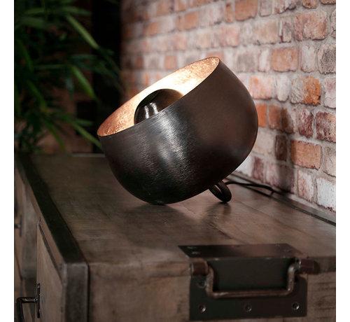 Tischlampe Benny 1-flammig Schwarz Ø 28 cm