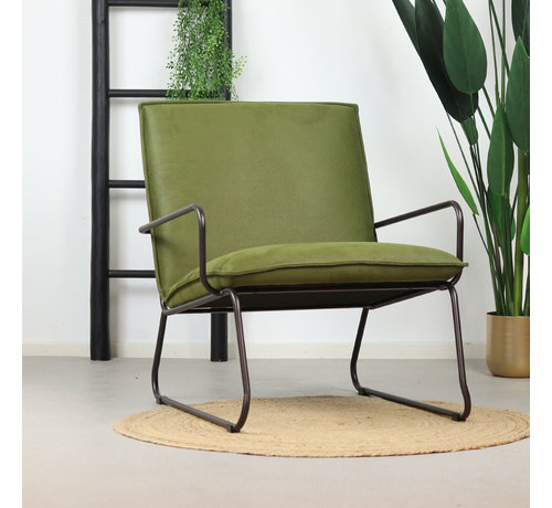 Eleonora Sessel Microfaser Lucas modern grün