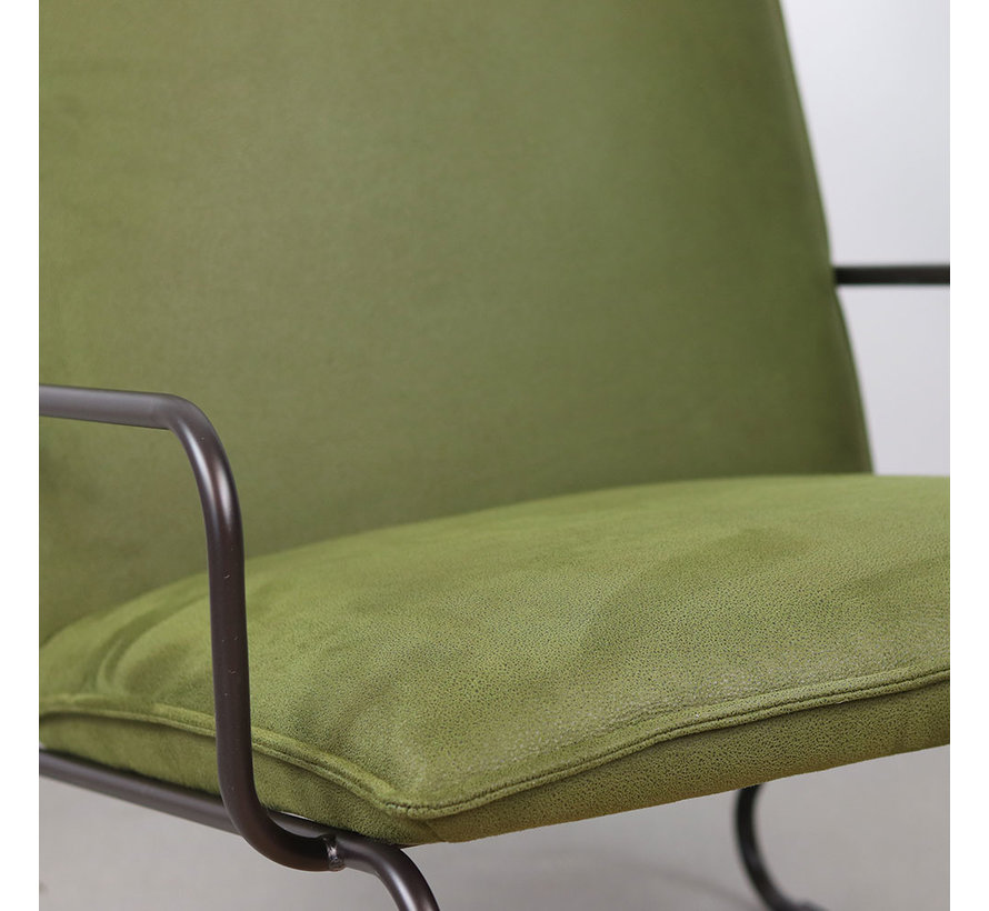 Sessel Microfaser Lucas modern grün
