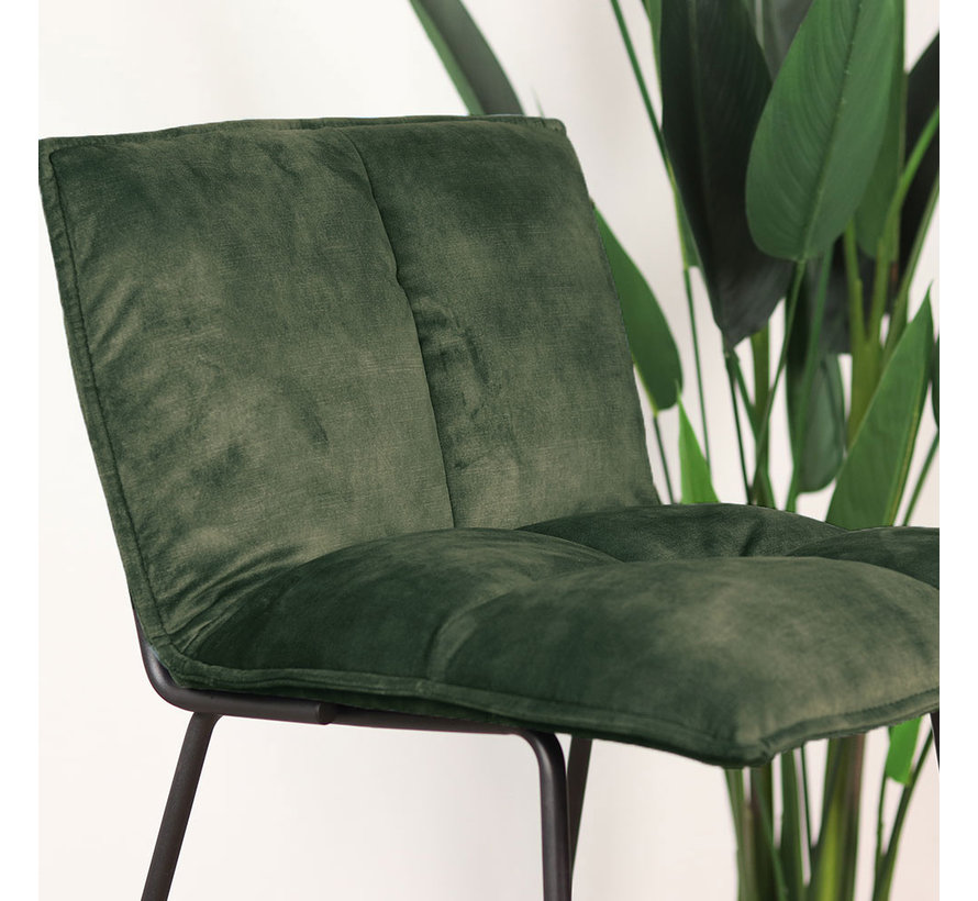 Barhocker Samt Emma grün 64 cm