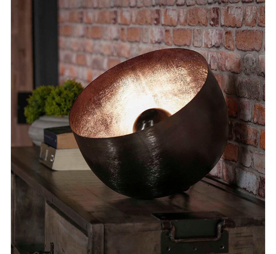 Tischlampe Benny 1-flammig Schwarz Ø 36 cm
