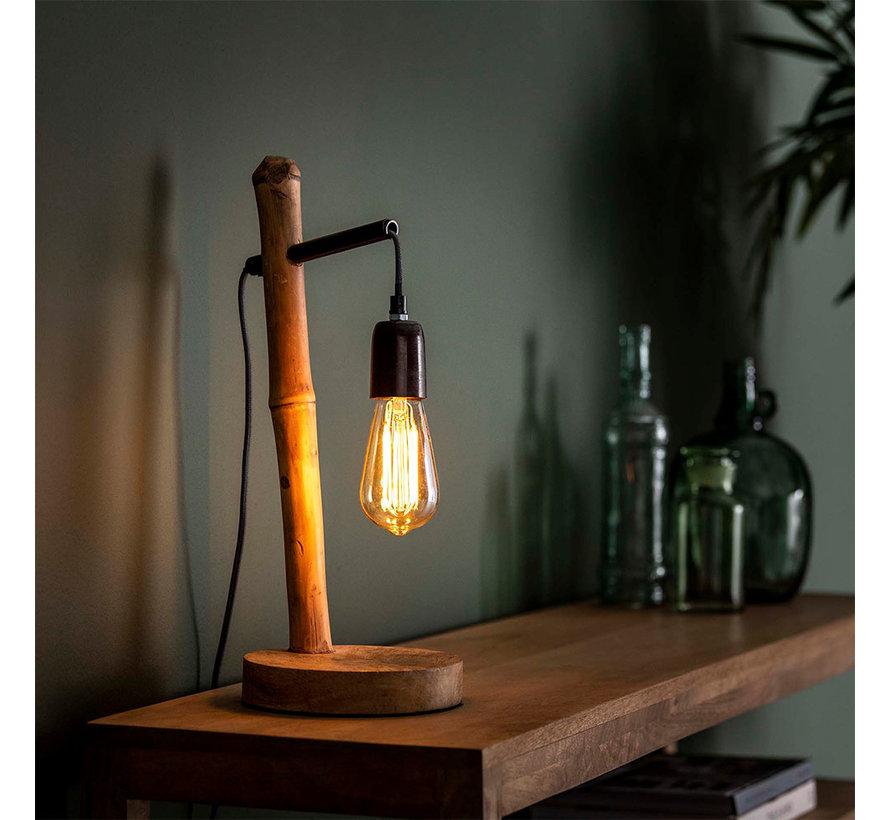 Tischlampe Lianne Bambus 1-flammig