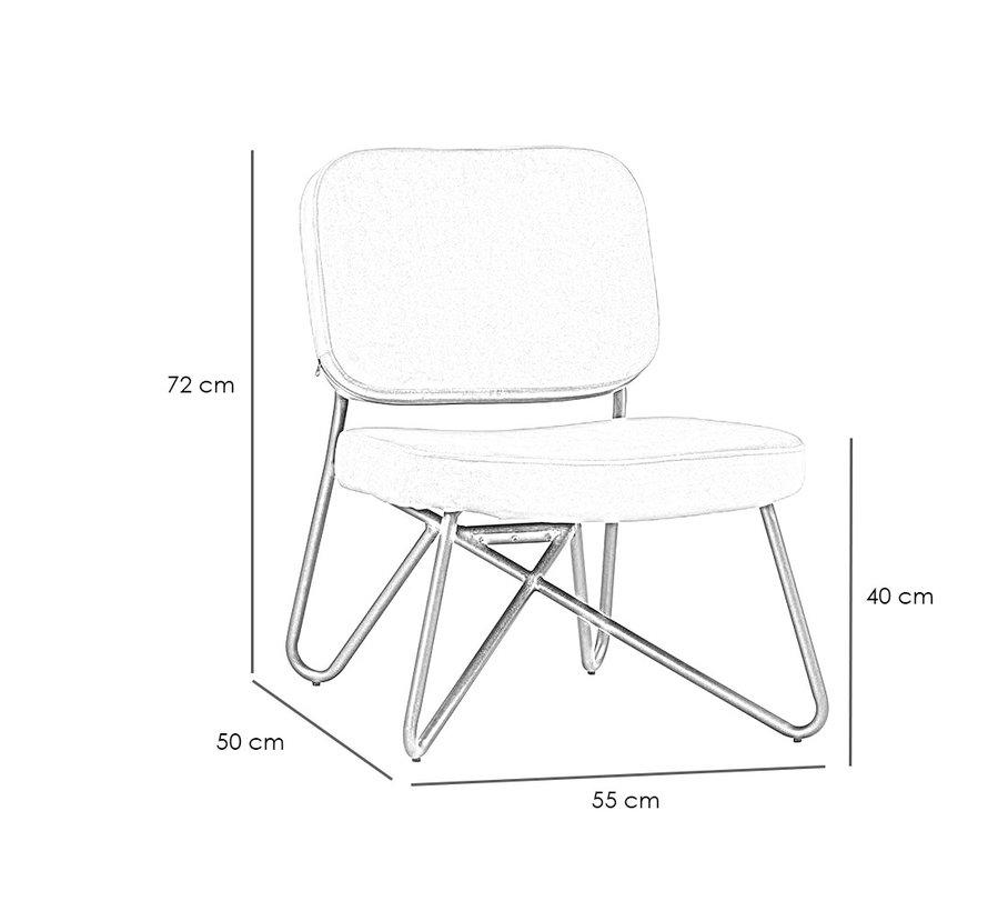 Samt Sessel Julia modern schwarz