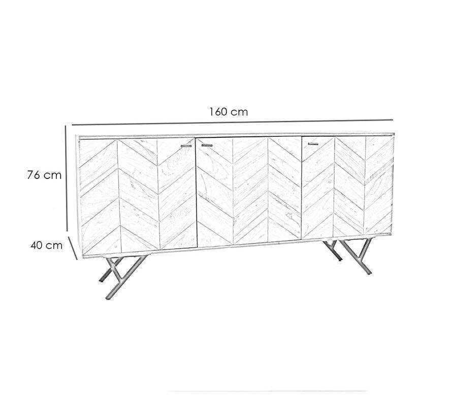 Sideboard Hunter Akazie Fischgrät-Design  160 cm
