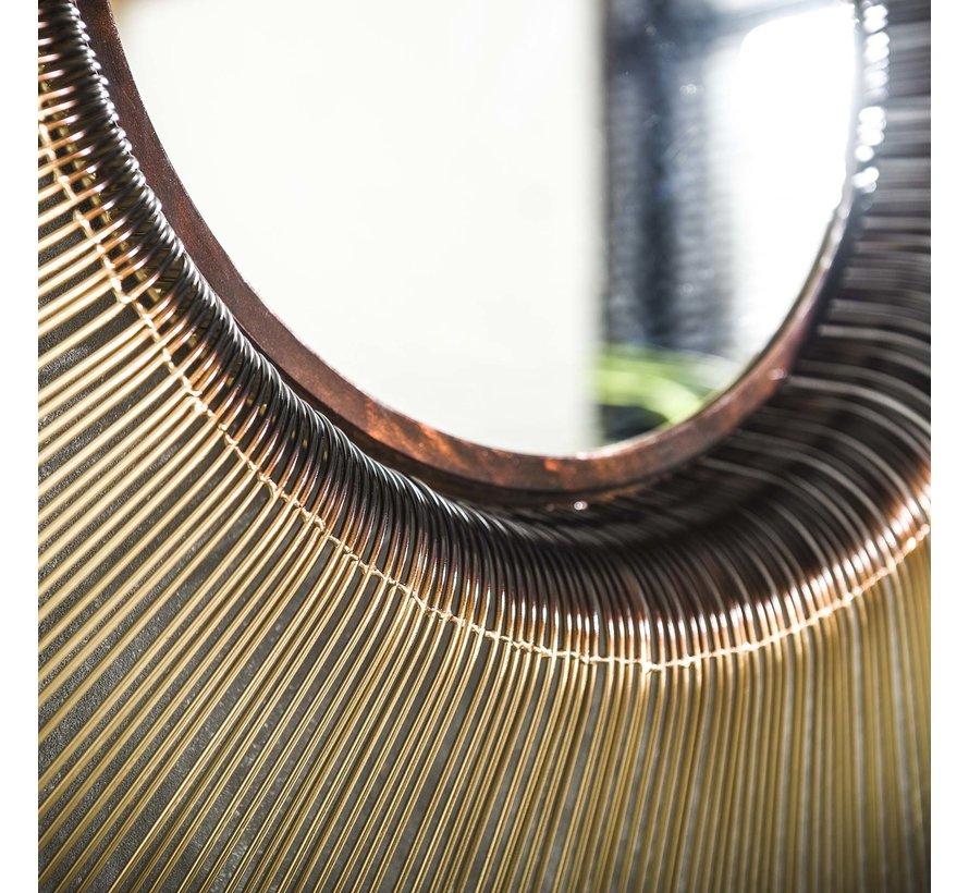 Design Spiegel Amy rund Ø80 cm gold