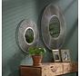 Design Spiegel Adela rund Ø50 cm Silber