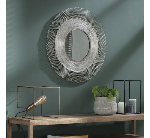 Design Spiegel Oceane rund  Ø65 cm Silber