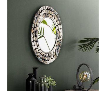Design Spiegel Lize rund Ø65 cm Silber