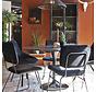 Runder Esstisch Marmor schwarz 120 x 76 cm