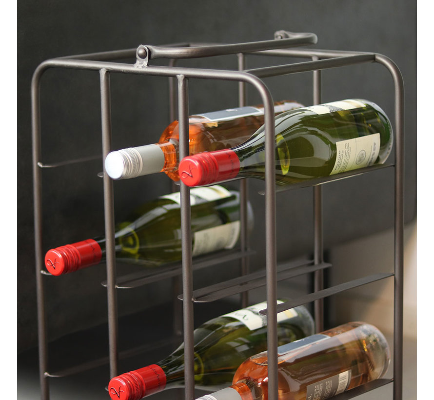 Weinschrank Rive Metall schwarz 9 Flaschen