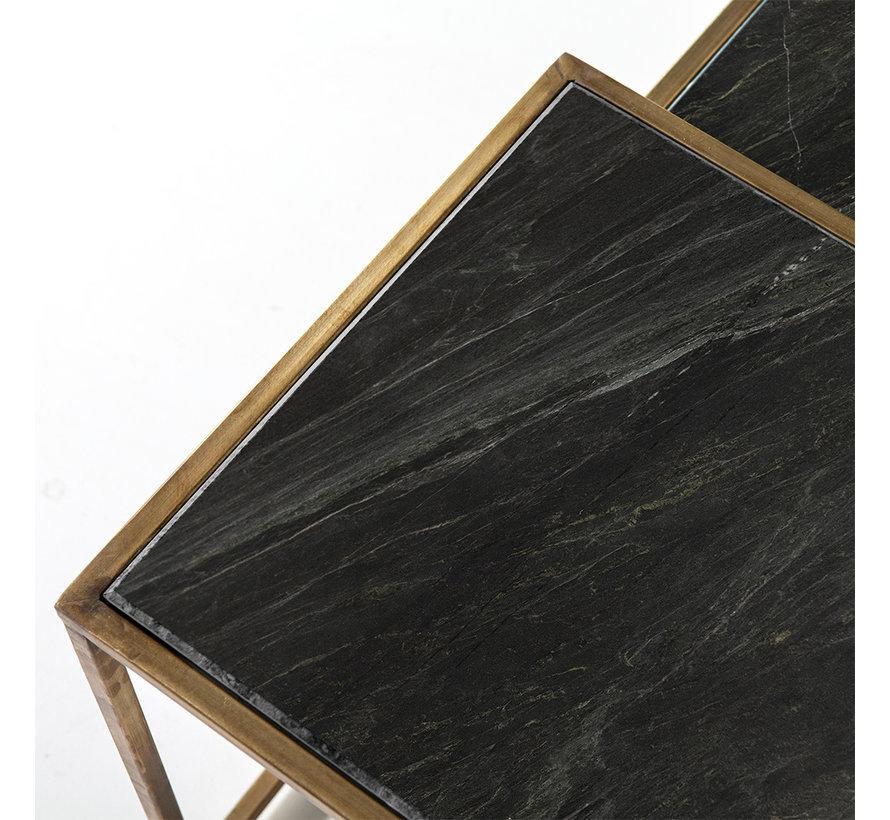 Couchtisch Marmor Julius schwarz (3er Set)