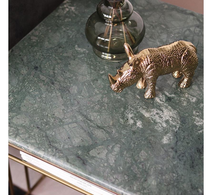 Couchtisch Marmor Julius grün 50 x 50 cm