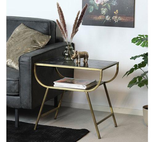 Beistelltisch Marmor Bente schwarz/gold