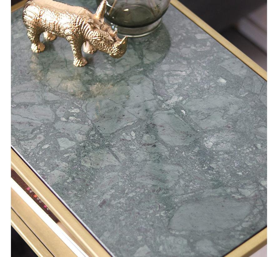 Beistelltisch Bente Marmor grün/gold