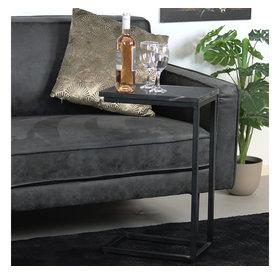 Laptoptisch Philip Marmor schwarz 65 cm hoch