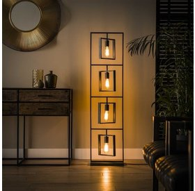 Stehlampe Judith 4-flammig Metall anthrazit