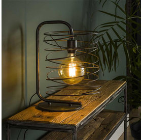 Tischlampe Curl 1-flammig charcoal