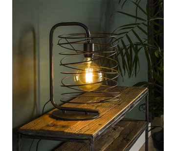 Tischlampe Curl 1-flammig charcoal