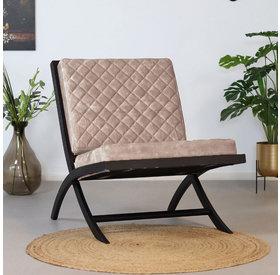 Bronx71 Samt Sessel Madrid Luxury Design taupe