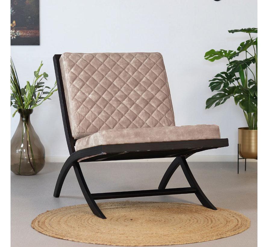Samt Sessel Madrid Luxury Design taupe