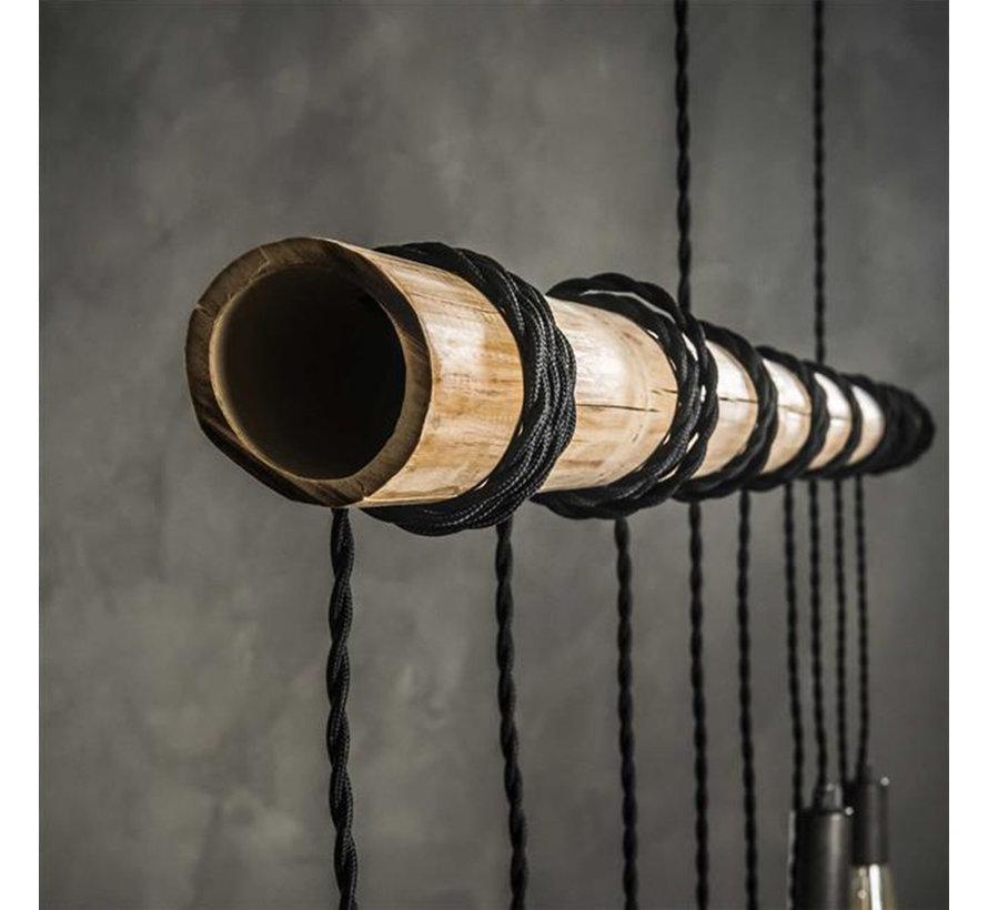 Hängelampe Kian 9-flammig Bambus
