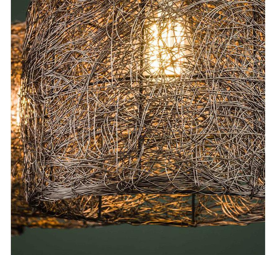 Hängelampe Jaxx 3-flammig antik kupfer