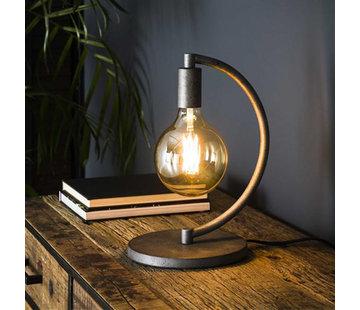 Tischlampe Ezra 1-flammig altsilber