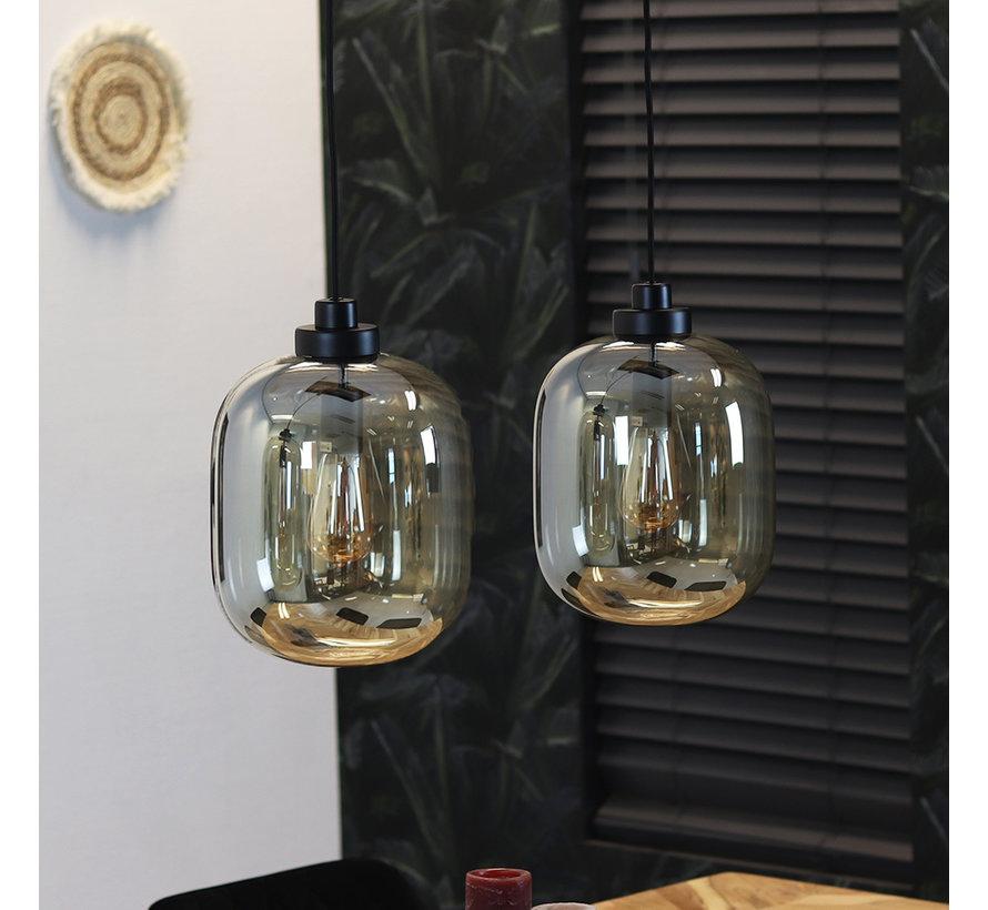 Hängelampe Amber 2-flammig Glas 30cm