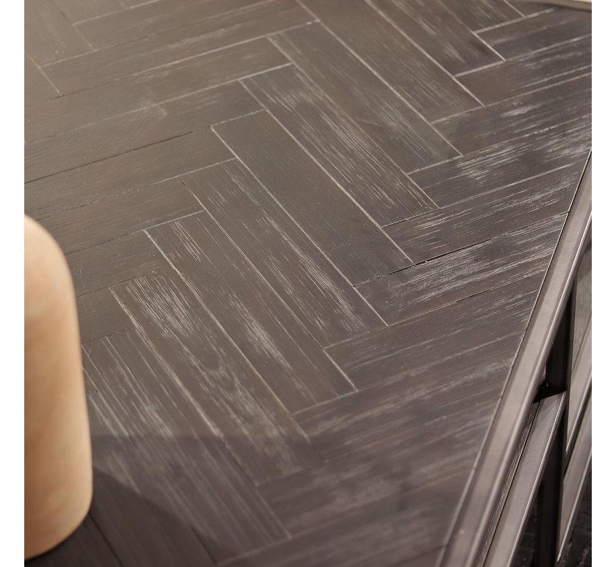 Couchtisch Hudson Akazienholz schwarz 120 x 70 cm