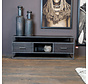 TV-Lowboard Hudson Akazienholz schwarz 150 cm