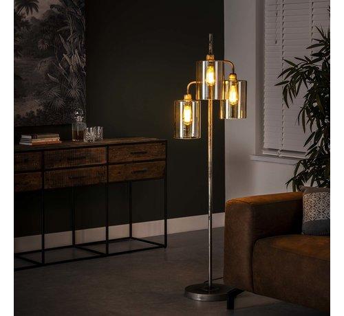 Stehlampe Lexie 3-flammig silber