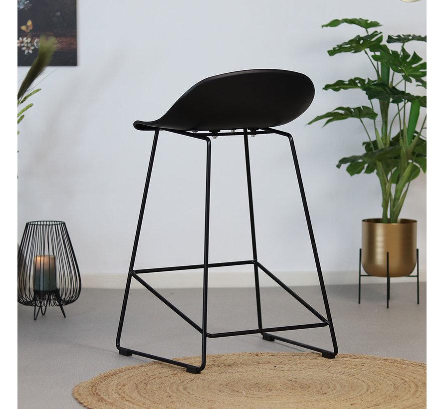 Barhocker Ellen skandinavisches Design schwarz 66 cm