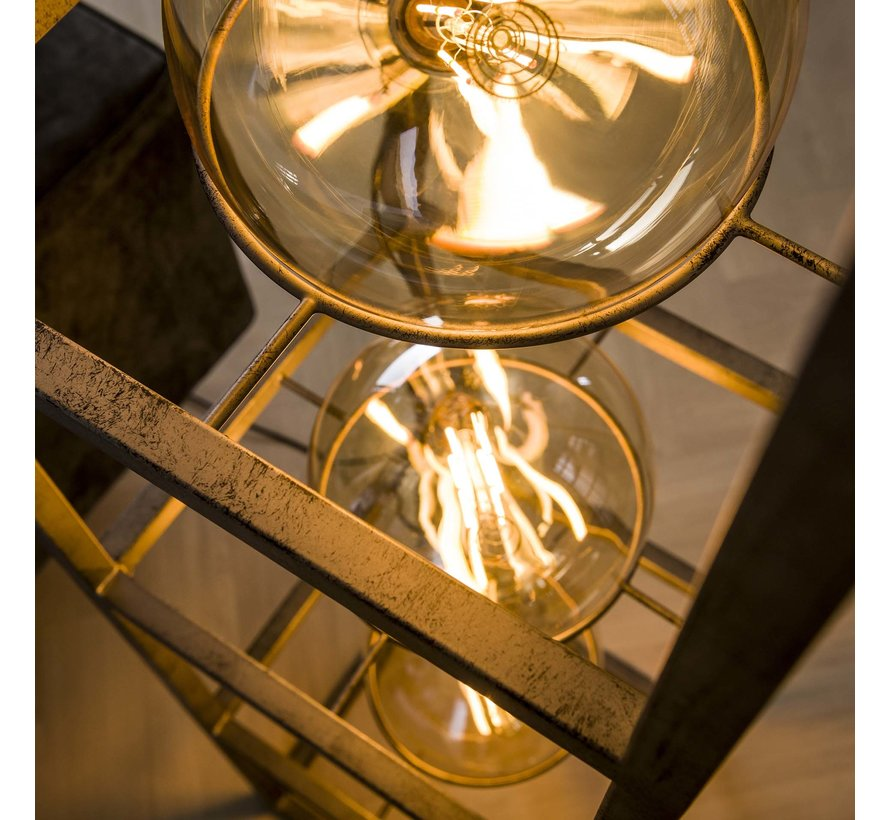 Stehlampe Frieda 4-flammig altsilber