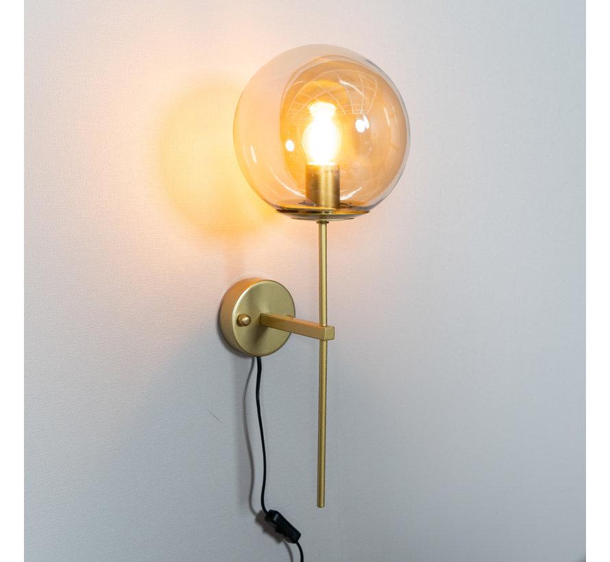 Wandlampe Up 1-flammig Amber