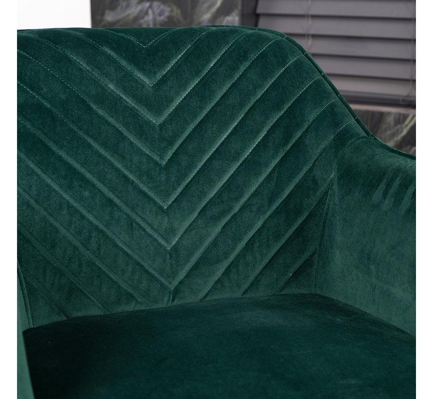 Esszimmerstuhl Samt Fiona mit Armlehne  grün