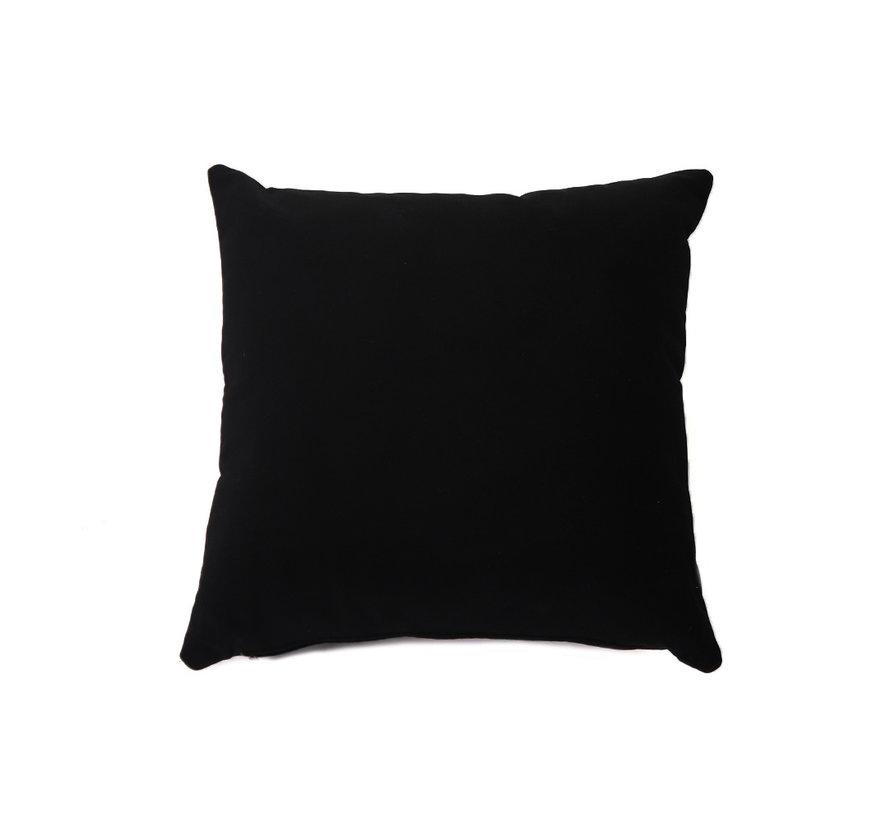Samt Kissen Anna schwarz 45x45 cm