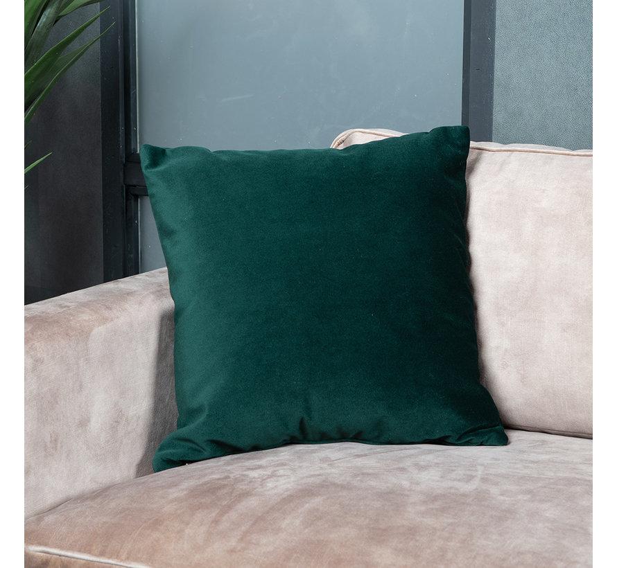Samt Kissen Anna grün 45x45 cm