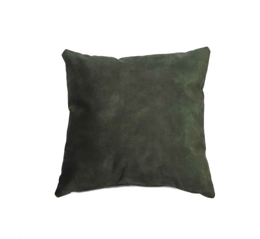Samt Kissen Beau grün 45x45 cm