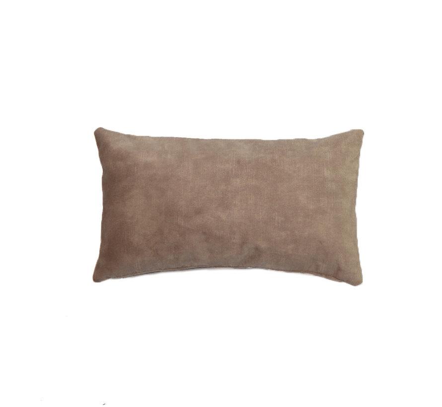 Samt Kissen Beau taupe 25x45 cm