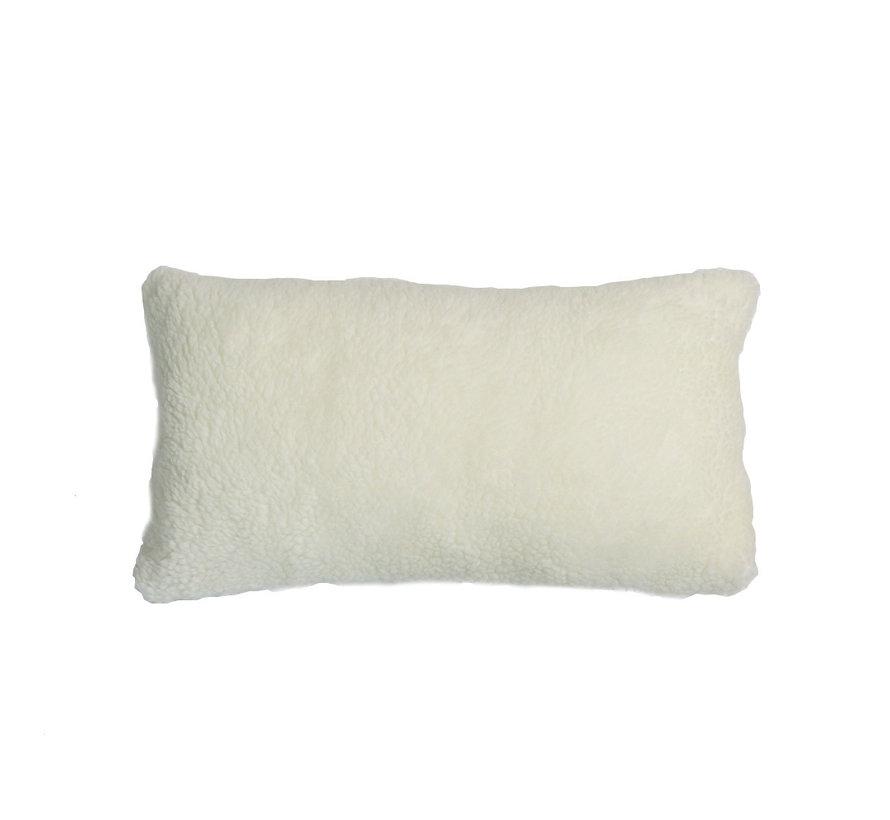 Teddy Kissen Tess weiß 25x45 cm