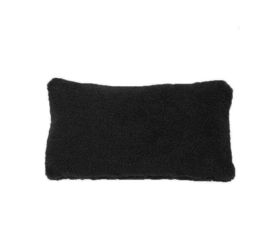 Teddy Kissen Tess schwarz 25x45 cm