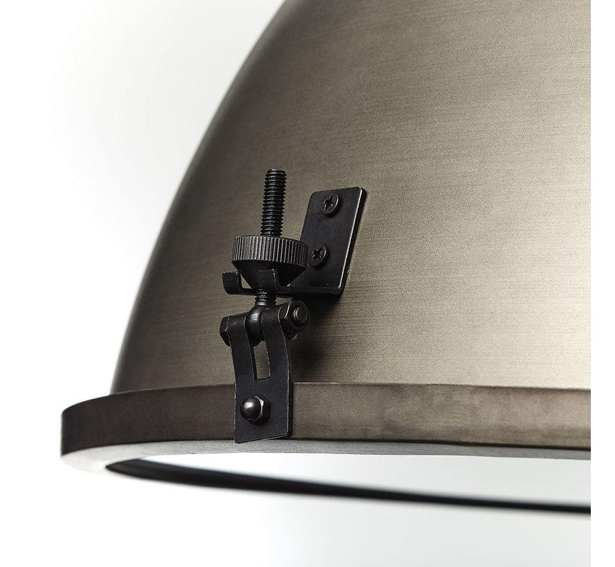 Hängelampe Sina 1-flammig Metall 48 cm altsilber