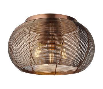 Deckenlampe Samba 3-flammig 40 cm braun