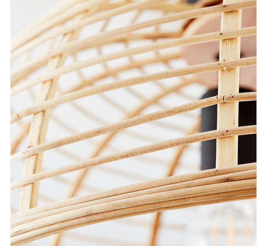 Deckenlampe Cross 3-flammig Bambus 57 cm